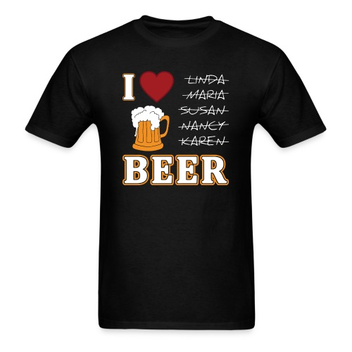I Love Beer for Men Funny Oktoberfest by Xeire - Men's T-Shirt