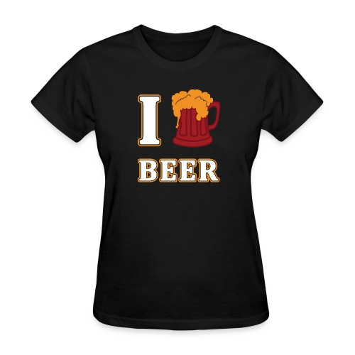 I Love Beer Funny Oktoberfest by Xeire - Women's T-Shirt