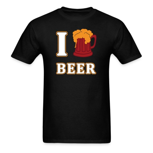 I Love Beer Funny Oktoberfest by Xeire - Men's T-Shirt