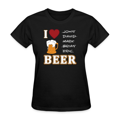I Love Beer for Women Funny Oktoberfest by Xeire - Women's T-Shirt