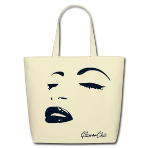 Eco-Friendly Cotton Tote - The bag is printed with a Special Flex Print in gold, which is a smooth and extremely durable glistening/glitter like surface. This printing style gives an elegant and chic touch to it.