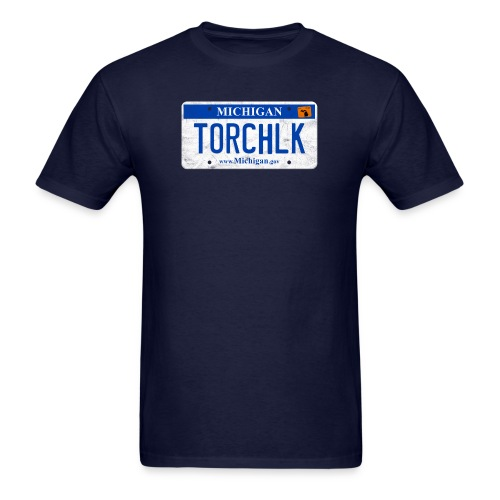 Torch Lake License Plate - Men's T-Shirt