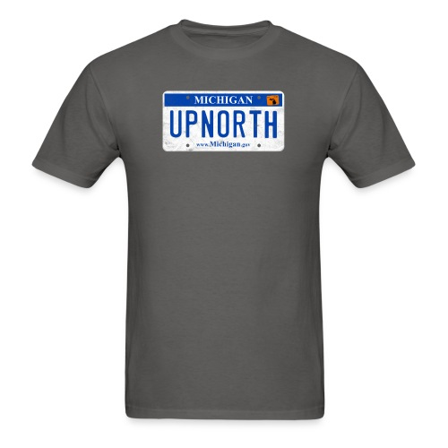 Up North License Plate - Men's T-Shirt