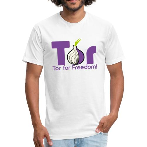Tor for Freedom - Fitted Cotton/Poly T-Shirt by Next Level