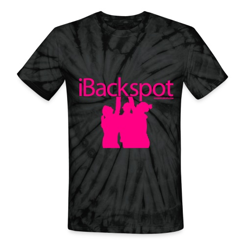 iBackspot Neon Pink Letters - Unisex Tie Dye T-Shirt