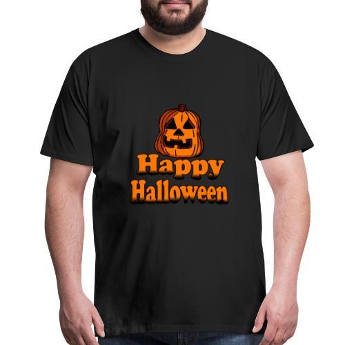 Happy Halloween pumpkin - Men's Premium T-Shirt