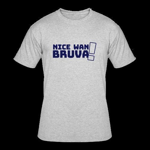 Nice Wan Bruva T-shirt - Men's - Men's 50/50 T-Shirt