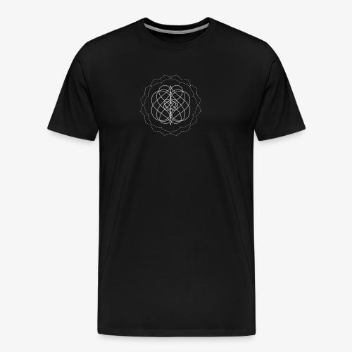 Men's premium tee with small white design - Men's Premium T-Shirt