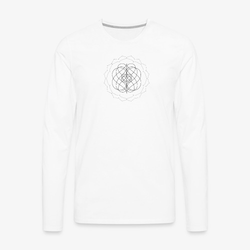 Men's premium long sleeve tee with small black design - Men's Premium Long Sleeve T-Shirt