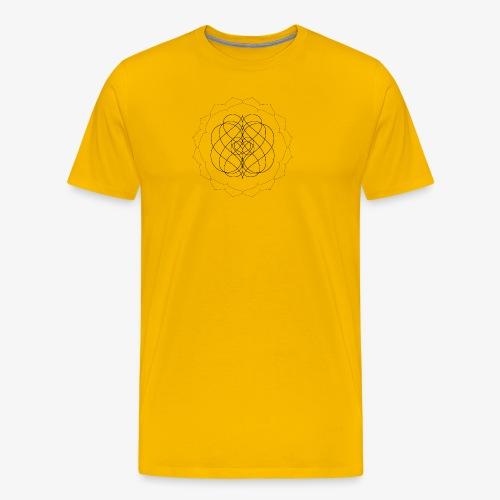 Men's premium tee with small black design - Men's Premium T-Shirt
