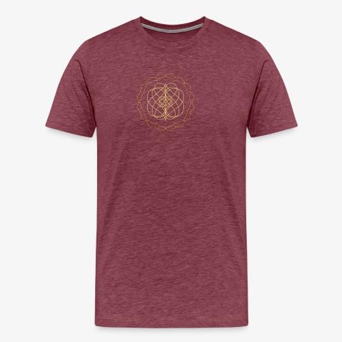 Men's premium tee with small gold design - Men's Premium T-Shirt