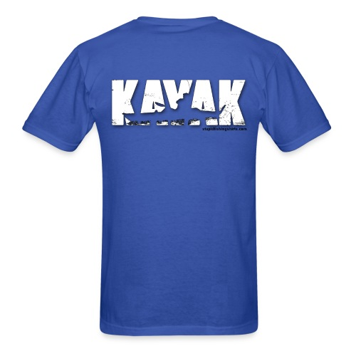 Kayak on Back - Men's T-Shirt