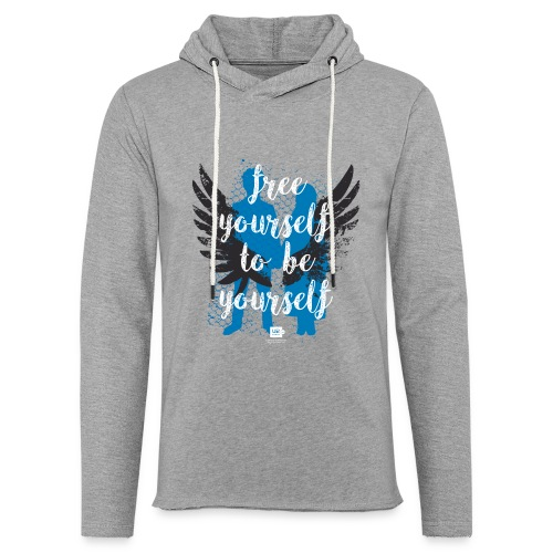 Shirts of Experience: Lights of Home (wings version) (light hoodie) - Unisex Lightweight Terry Hoodie