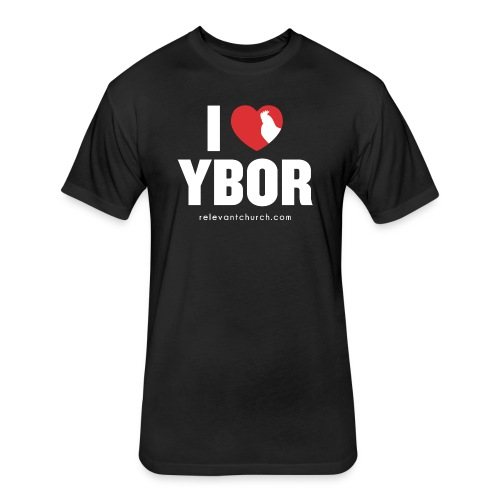 I Heart Ybor - Fitted Cotton/Poly T-Shirt by Next Level