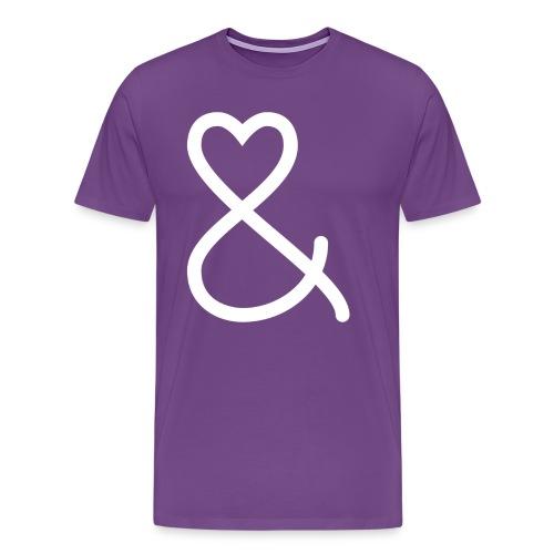 She & He White Logo Mens - Men's Premium T-Shirt
