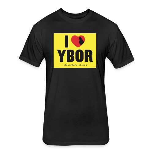 I Heart Ybor 2 - Fitted Cotton/Poly T-Shirt by Next Level
