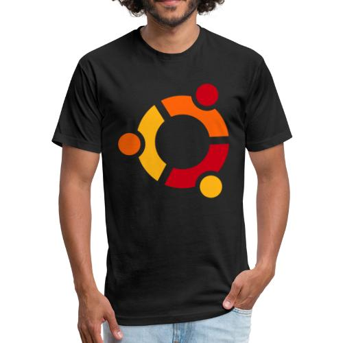 Ubuntu - Fitted Cotton/Poly T-Shirt by Next Level