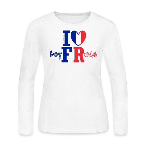 Blue, White and Red Wine - Women's Long Sleeve Jersey T-Shirt