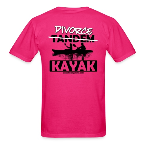 Divorce Kayak on Back - Men's T-Shirt