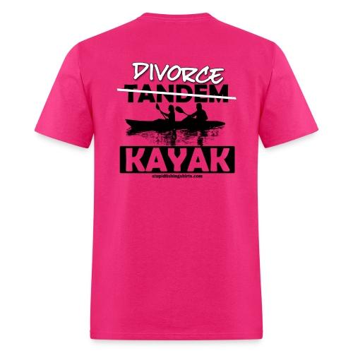 Divorce Kayak on Back - Men's T-Shirt