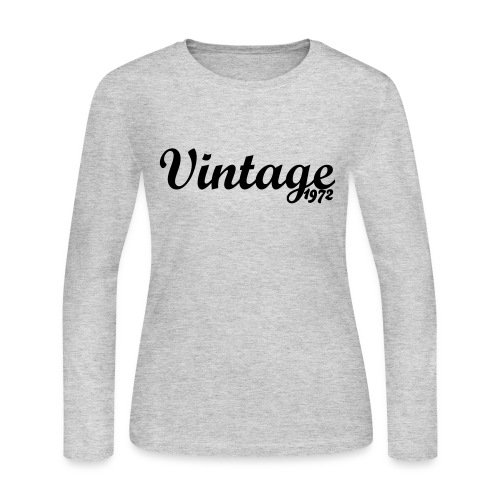 Vintage '72 Long for Women - Women's Long Sleeve Jersey T-Shirt