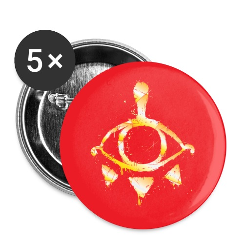 Red & Gold Yiga Scum 2 1/4 Button (set of 5) - Large Buttons
