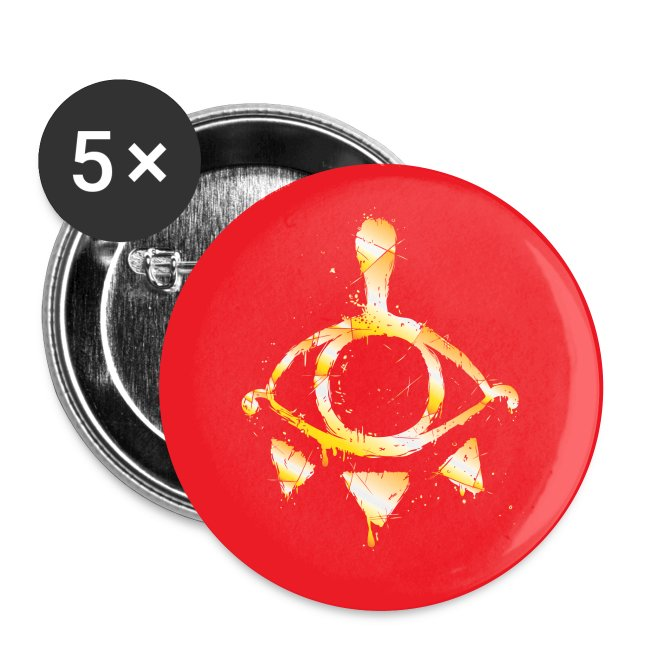"Red & Gold Yiga Scum 2 1/4"" Button (set of 5)"