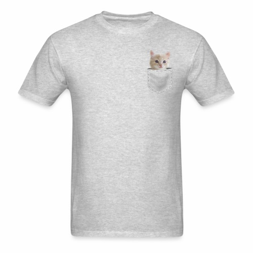 Kitten In Pocket - Men's T-Shirt