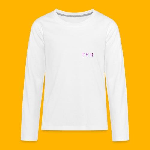 Team Free Run Jersey (WHITE) - Kids' Premium Long Sleeve T-Shirt