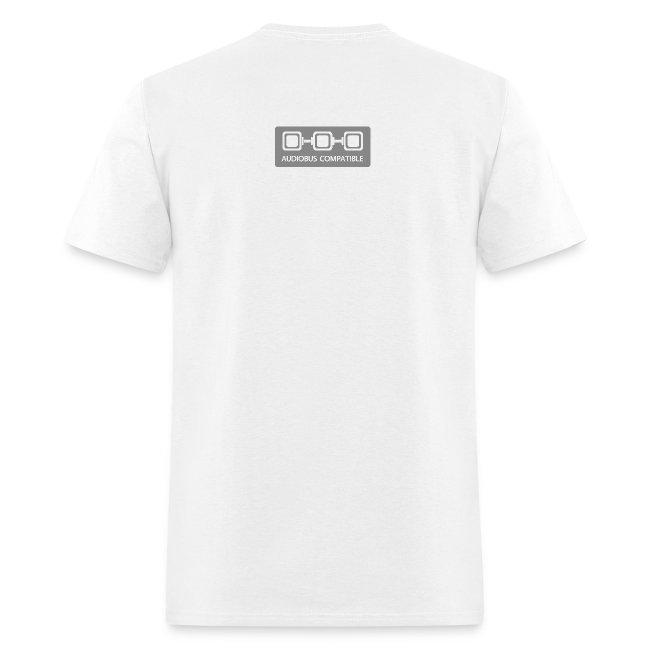 White Audiobus logoshirt, men's