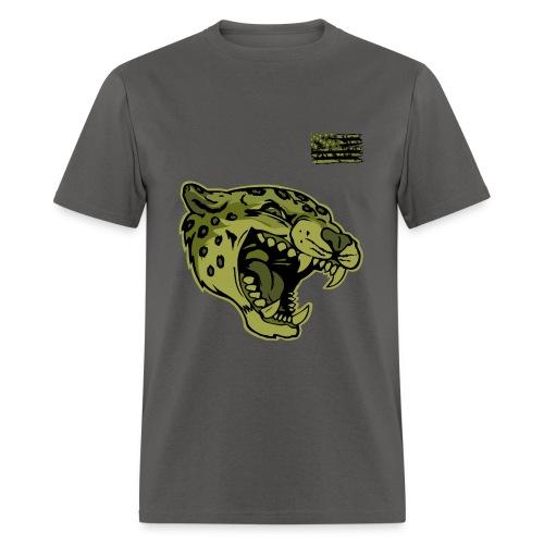 Green Camo Cat - Men's T-Shirt