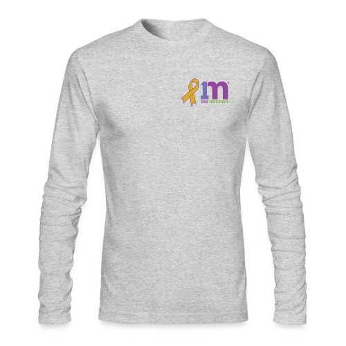 Special Edition: Gold Ribbon Men's Long Sleeve Shirt - Men's Long Sleeve T-Shirt by Next Level
