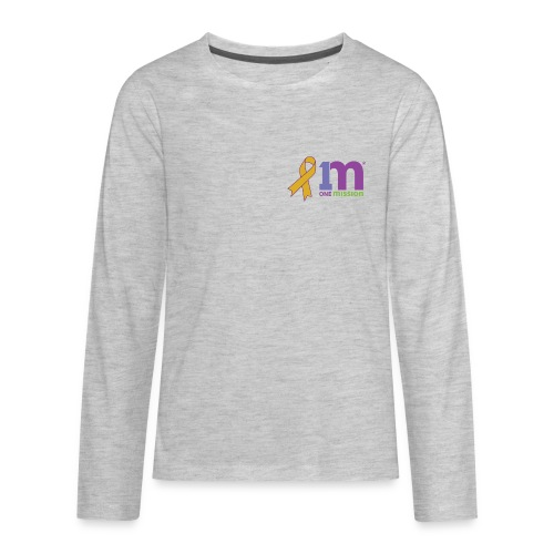 Special Edition: Gold Ribbon Kid's Long Sleeve Shirt - Kids' Premium Long Sleeve T-Shirt