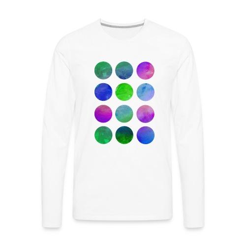 Men's Long Sleeve WATERCOLORS Shirt - Men's Premium Long Sleeve T-Shirt