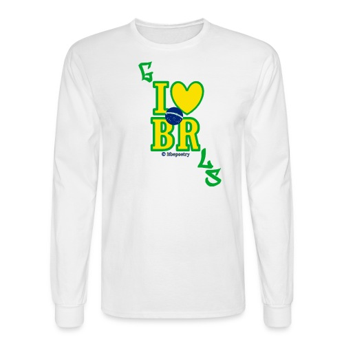 Long for Her Beijos (Less Serif) - Men's Long Sleeve T-Shirt