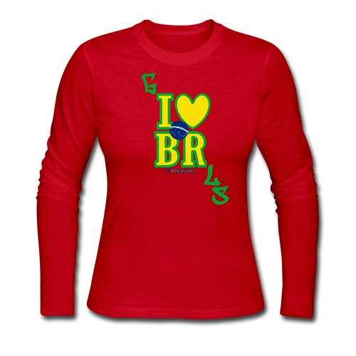 Long and Lovely (Less Serif) - Women's Long Sleeve Jersey T-Shirt