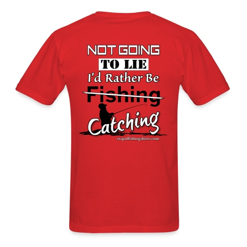 I like Catching on Back - Men's T-Shirt