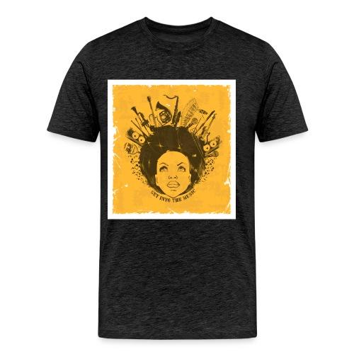 AFRO TEAM NATURAL HAIR Black Pride - Men's Premium T-Shirt