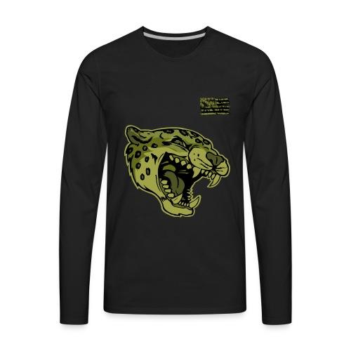 Green Camo Cat - Men's Premium Long Sleeve T-Shirt
