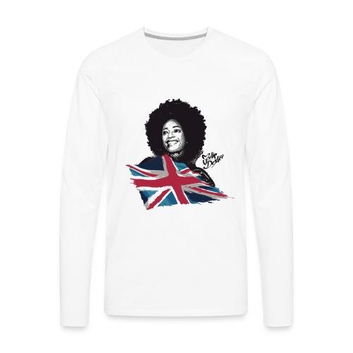 Julie Dexter UK Flag - Men's Premium Long Sleeve Jersey T-Shirt - Men's Premium Long Sleeve T-Shirt