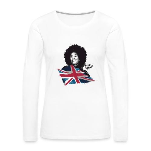 Julie Dexter UK Flag - Women's Premium Long Sleeve Jersey T-Shirt - Women's Premium Long Sleeve T-Shirt