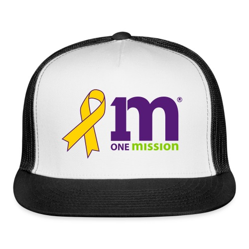 Special Edition: Gold Ribbon One Mission Trucker Hat - Trucker Cap