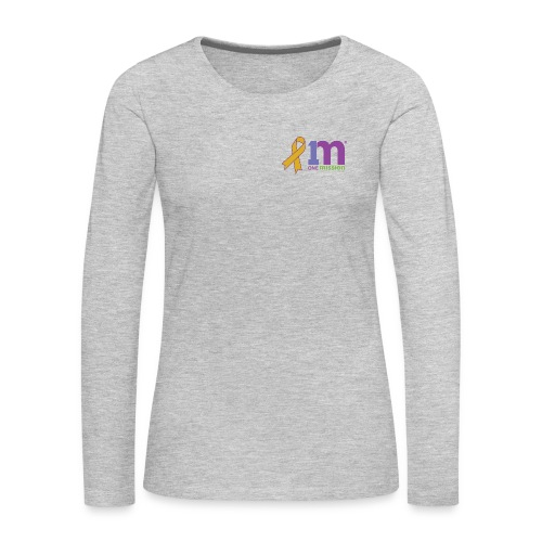 Special Edition: Gold Ribbon Woman's Long Sleeve Shirt - Women's Premium Long Sleeve T-Shirt