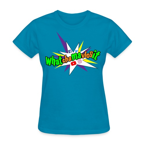Whatchamavlogit Candy Womens Shirt Green Logo - Women's T-Shirt