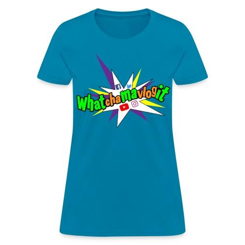 Whatchamavlogit Candy Womens Shirt Green Logo - Women's T-Shirt