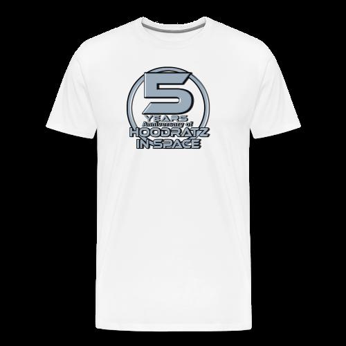 5 Years of HOODRATZ IN SPACE T-Shirt - Men's Premium T-Shirt