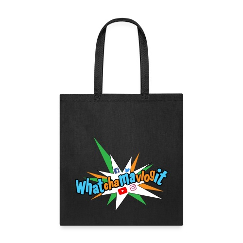 Whatchamavlogit Candy Tote Bag Blue Logo - Tote Bag