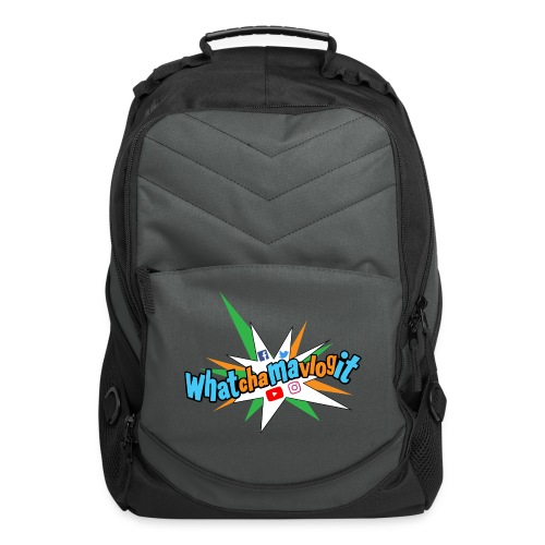 Whatchamavlogit Candy Backpack Blue Logo - Computer Backpack