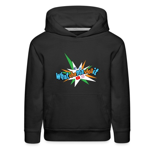 Whatchamavlogit Candy Kids Hoodie Blue Logo - Kids' Premium Hoodie