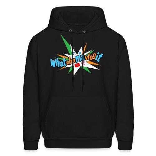 Whatchamavlogit Candy Mens Hoodie Blue Logo - Men's Hoodie